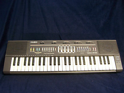 VINTAGE CASIO CASIOTONE MT-205 SYNTHESIZER KEYBOARD electric piano drum input R