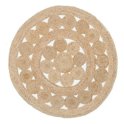 New Natural Daisy Jute Rugs Flatweave Network Bedroom Hand Woven Multi dimension