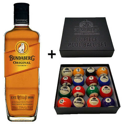 Bundaberg Rum - Kelly Pool Balls with 700mL Bottle (Bundle)