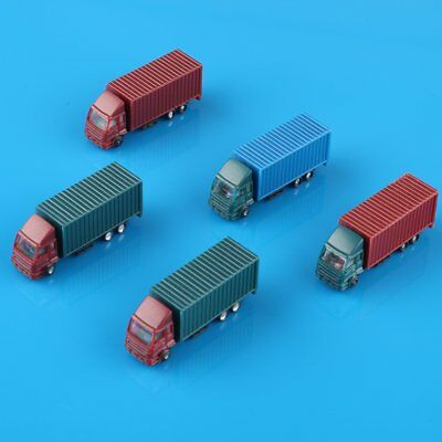 NEW 5PCS 1:150 N Scale Plastic Container Colorful Truck Model Cars Railway