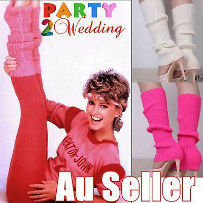 Leg Warmers Knitted Women Costume Neon Legging Fluro Ankle Dance Party Disco 80s