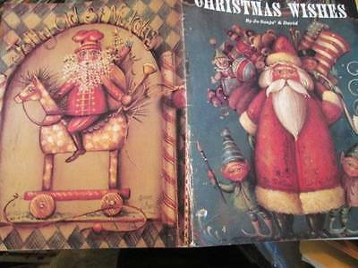 Christmas Wishes Painting Book -Jo Sonja -Toys/Santas/Angel & Children/Chick