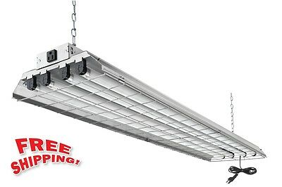Lithonia Commercial Shop Garage Fluorescent Light Ceiling Lighting Lamp Fixture