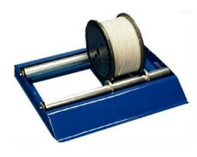 Blue Electrical Cable Reel Drum Holder and De-Reeling Dispenser Stand Roller