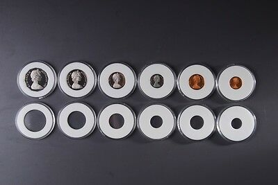 Acrylic coin capsule, 3 pieces, 26mm