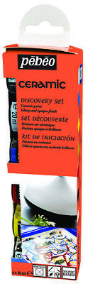 Pebeo Discovery Set CERAMIC Paint Pottery, Terracotta, China 6 x 20ml Colours