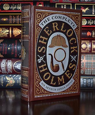 Complete Sherlock Holmes by Arthur Doyle Sealed Leather Bound Collectible
