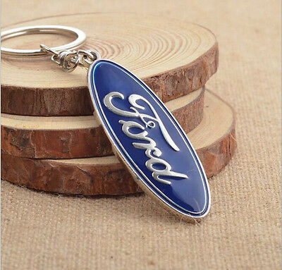 Carjoy Sydney Ford Keyring Chain Car Logo Badge Key Ring Polished Metal Gift AU