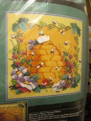 Bucilla Blooms-A-Buzz Needlepoint Picture/Pillow Kit 14x14 Inches (35.6x35.6 cm)