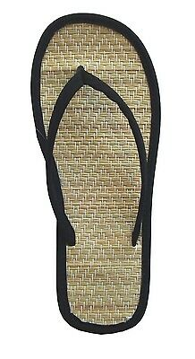 WHOLESALE LOT 48 Prs New Women Bamboo Flip Flop Sandals Big Sizes-1212Black(6-11