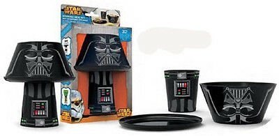 Set desayuno Star Wars Darth Vader apilable cuenco, vaso, plato.