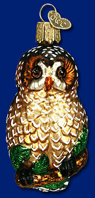 """""""Spotted Owl"""" (16052) Old World Christmas Glass Ornament"""