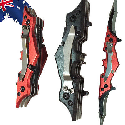 Outdoor Hunting Fold Knife Camping Survival Multi- fuction Bat Cutter OKNIF46
