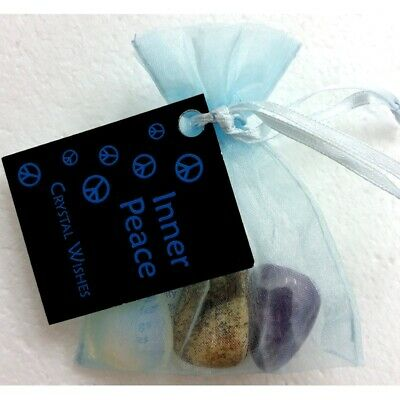 Crystal Wish Kit Pouch - INNER PEACE - Hippie Peace One Love Gifts For Him Her