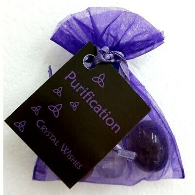 Crystal Wish Kit Pouch - PURIFICATION Gifts For Him Her Magic Ritual Obsidian