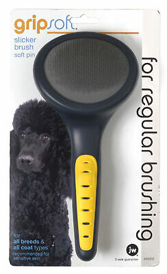 Gripsoft Soft Slicker Brush, No. 65002,  by JW - Dog/Cat/Aquatic