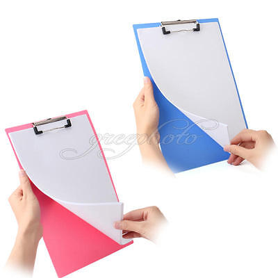 New Clip Board A4 - BLUE or PINK - Clipboards with Pen Holder & Foolscap