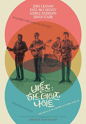 A Hard Day's Night The Beatles Korean Movie Mini Posters Movie Flyers  A4 Size