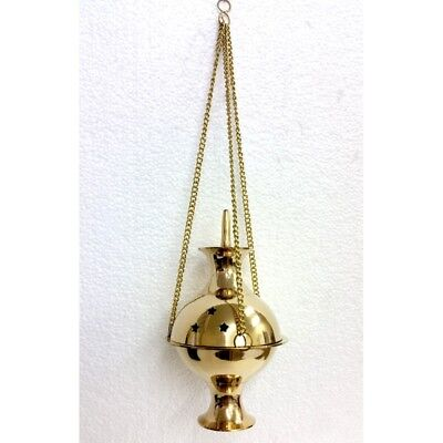 Brass Charcoal Holder - Hanging Censer Large CHARCOAL RESIN CONE BURNER-SHOP NOW