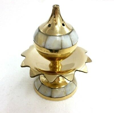 Brass Incense Holder BURNER - Pearled Lotus - SHOP NOW - FAST POSTAGE