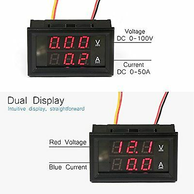 DROK® Digital Voltage Current Tester Voltmeter Ammeter Multimeter DC 0-100V/50A