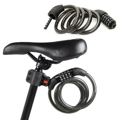 Universal Bike Bicycle Cycling 5 Digital Security Coded Lock Steel Chain Cable