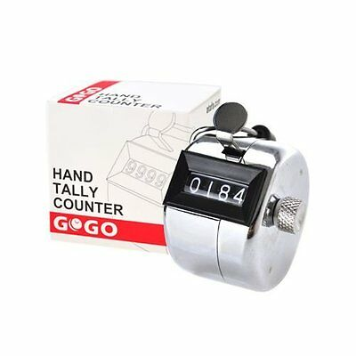 GOGO 4 Digit Tally Counter, Metal Hand Counter, Solid Metal Counter Clicker