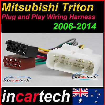 MITSUBISHI TRITON 16-PIN ISO WIRING HARNESS Adaptor Cable Connector lead loom