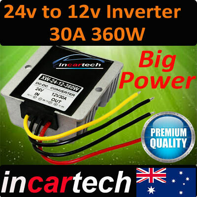 Vehicle DC Voltage Converter Step down 24V to 12V 30A Car Truck Caravan Inverter
