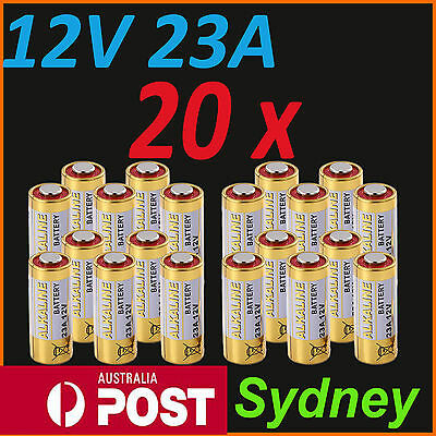 20x 12V A23 23A ultra High Voltage Alkaline Battery E23A LRV08 N21 EL12 VR22 MS2