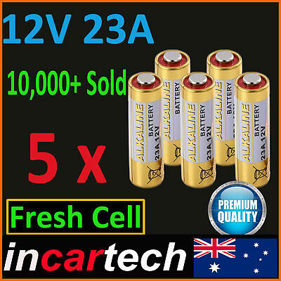 5 x 12V A23 23A ultra High Voltage Alkaline Battery E23A LRV08 N21 EL12 VR22 MS2