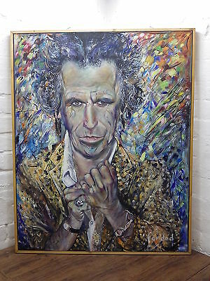 ORIGINAL OIL PAINTING KEITH RICHARDS ROLLING STONES Peter Lindbergh