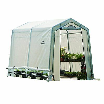 """Shelter Logic Greenhouse-in-a-box with Windows 6' W x 8' L  x 6'6"""" H / 70602"""