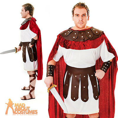 Adult Marc Anthony Costume Mens Roman Gladiator Warrior Fancy Dress Outfit New