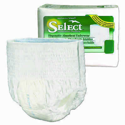 Tranquility Select Disposable Underwear, Adult, EXTRA SMALL, 2603 - Pack of 24