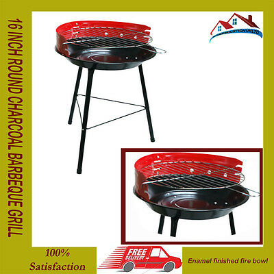 16 Inch Round Charcoal Barbeque Bbq Adjustable Grill Barbecue Portable Camping