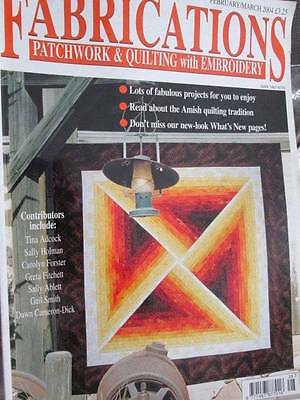Fabrications UK February/March 2004 Magazine-Patchwork & Quilting & Embroidery-8