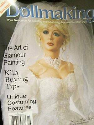 Dollmaking Magazine June 2000-Glamour Painting/Wedding Gown/Bishop/Rose Fairy