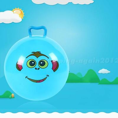 Inflatable Hopping Jumping Ball Bouncer Hopper Handle Kids Outdoor Toy SAYG AI1G