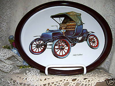 Classic Car Trays Cadillac Franklin Welch Set/ 3