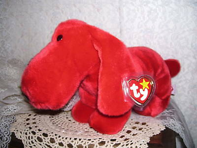 Ty Beanie Buddies Rover The Red Dog Nwt  Red Rover