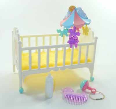 007 My Little Pony Playset ~*RARE Sweet Dreams Crib & Accessories EXCELLENT!*~