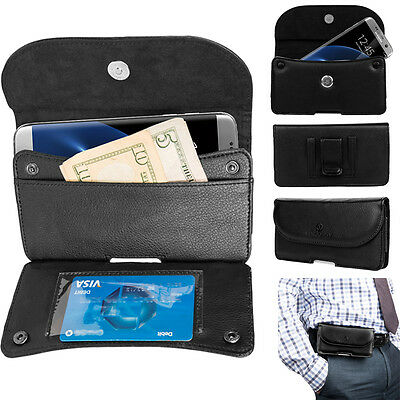 PU Leather Belt Clip Wallet Case Phone Pouch For Samsung Galaxy S10+/S9+/ Note 9