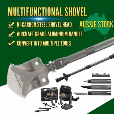 Multi Function Shovel Camping Hiking Emergency Tool Kit Military Outdoor Army