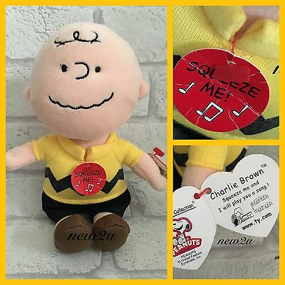 TY Musical Beanie Babies Peanuts / Snoopy Plush - Charlie Brown