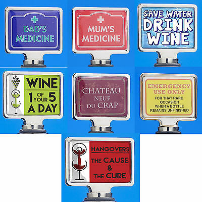Wine Bottle Stoppers Novelty Gift High Quality Brand New Various Designs Adult