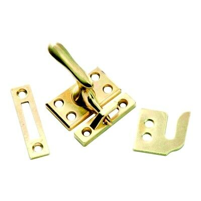 Bright Brass Casement Window Fastener with 3 Diverse Strikes 1432 from Hickory