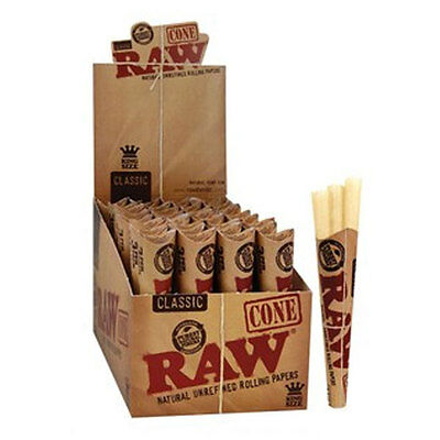 Bulk Buy 32 x 3 Pack Raw Classic Cone King Size Slim Rolling Papers Tobacco