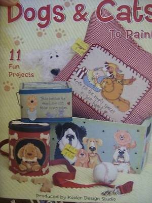 Dogs & Cats To Paint Painting Book-11 Projects- Various Artists-Kooler Studio