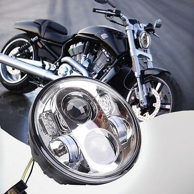 5.75'' Motorcycle Projector Daymaker Hi/Lo LED Light Bulb Headlight For Harley
